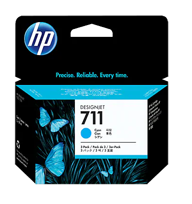 Picture of HP 711 29-ml Cyan Ink Cartridge
