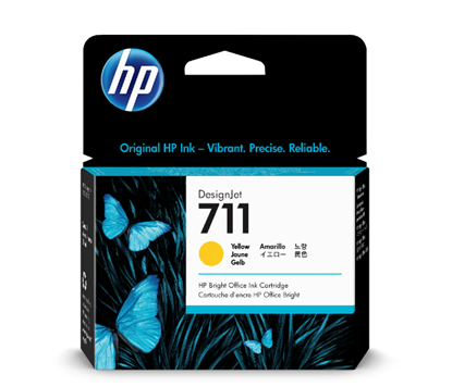 Picture of HP 711 29-ml Yellow Ink Cartridge