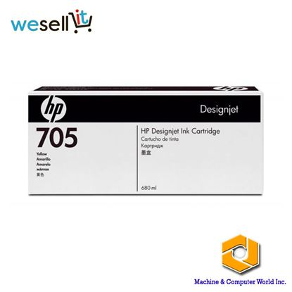 Picture of HP 705 680-ml Yellow Designjet Ink Cartridge