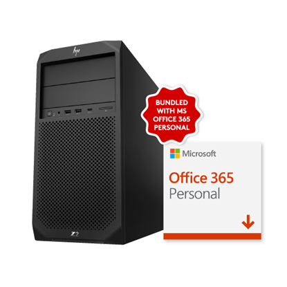Picture of HP Z2 Workstation Tower PC with Office 365 Personal
