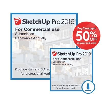 Picture of SketchUp Pro 2019 - Buy 2 and get 50% off on 2nd seat