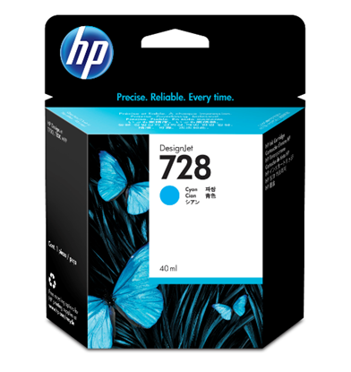 Picture of HP 728 40-ml Cyan Ink Crtg