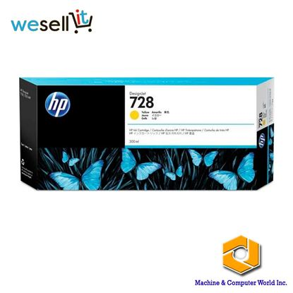 Picture of HP 728 300-ml Yellow Ink Crtg