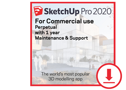Picture of SketchUp Pro Perpetual 2020  w/ 1 Year Maintenance and Support