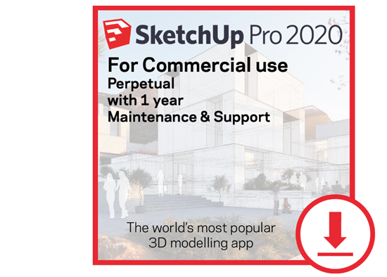 Picture of SketchUp Pro Perpetual 2020 -  w/ 1 Year Maintenance and Support