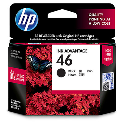 Picture of HP 46 Black Original Ink Advantage Cartridge