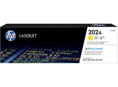 Picture of HP 202A Yellow Original LaserJet Toner Cartridge