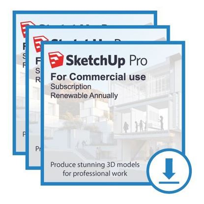 Picture of SketchUp Pro Bundle - Annual Subscription (3 licenses)