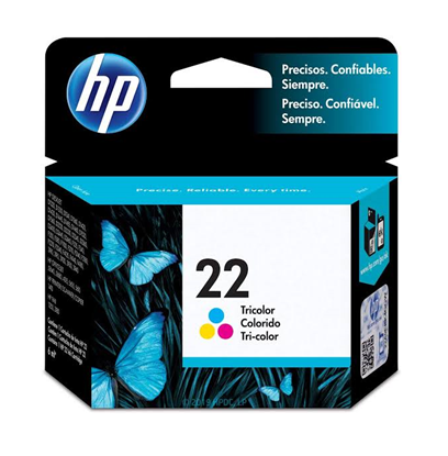 Picture of HP 22 Tricolor Original Ink Cartridge