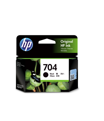 Picture of HP 704 Black Original Ink Advantage Cartridge