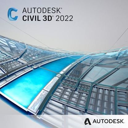Picture of Civil 3D 2022 Commercial New Single-user ELD 3-Year Subscription
